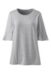 Shirt mit Tulpenärmeln, Damen, Größe: XS Normal, Schwarz, Modal, by Lands'' End, Classic Grau-Meliert