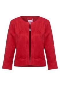 Street One Damen Offene Velours Indoor Jacke in Rot