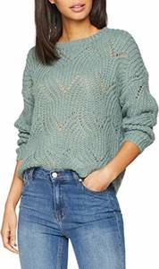 ONLY Damen Strickpullover Detailreicher MChinois Green