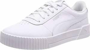 PUMA Damen Carina L Sneaker, WhiteWhite Silver, 38 EU