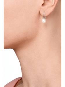 CHRIST Ohrhänger silber / perlweiß