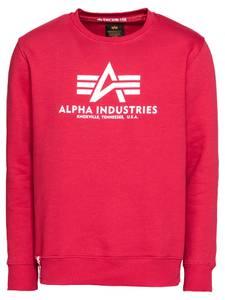 ALPHA INDUSTRIES Sweatshirt rot / weiß