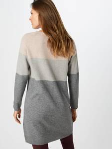 ONLY Kleid ''DRESS KNT NOOS'' dunkelgrau / hellgrau / hellbeige