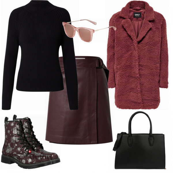 Burgundy Herbstoutfit FrauenOutfits.ch
