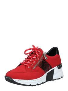 RIEKER Sneaker bordeaux / rot / schwarz