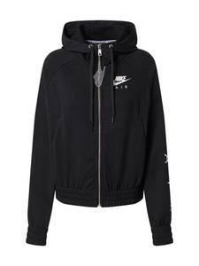 Nike Sportswear Sweatjacke weiß / schwarz