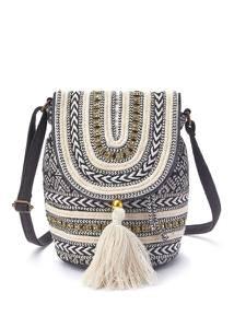 LASCANA Tasche schwarz / beige