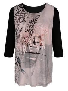 Longshirt schwarz/rosé MIAMODA