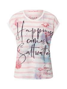 Soccx T-Shirt weiß / hellpink / kobaltblau / kirschrot