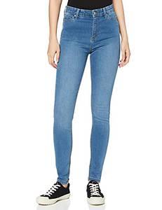 Amazon-Marke: MERAKI Damen Skinny Jeans mit hohem Bund, Blau (Light Vintage), 26W / 32L, Label: 26W / 32L