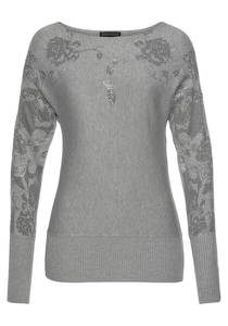 MELROSE Pullover grau
